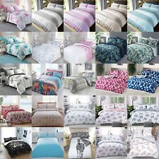 Duvet Cover with Pillow Case Quilt Cover Bedding Set Reversible New Range Print