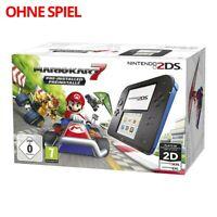 Nintendo 2DS - Konsole #schwarz-blau Mario Kart 7 Edition ohne Spiel mit OVP