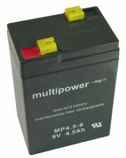 Akku Bleigel Peg Perego Elektroauto 6V 4,5Ah Multipower MP4.5-6