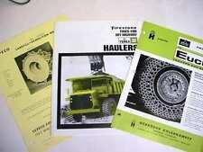 12 Piece Older Construction Literature Asst Euclid, Terex, Ware  CHEAP!