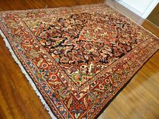 "Circa 1930 Sultanabad Mahal Antique Persian Exquisite Hand Made Rug 4' 2"" x 6' 7"