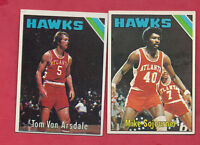 1975-76 TOPPS NBA ATLANTA HAWKS  EX-MT CARD LOT