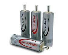 Nerve Audio Silver Element RCA connector solder-on set of 4 Connectors DIY