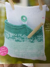 Knitting Pattern For Peg Bag  In King Cole D.K. Bamboo Cotton- Size 21ns x 10ins