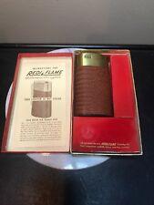 Vintage Cigar/Pipe Automatic Gas Lighter.ByRedi Flame. Imitation Bwn Snake skin.