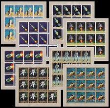 Burundi 1969 MOON LANDING Stamp set - MNH Imperforate Full Sheets..........A5607
