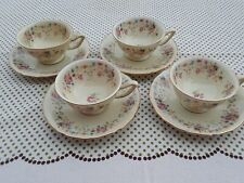 Vintage THOMAS IVORY Bavaria Germany Four Porcelain Demitasse Cups & Saucers