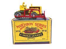 Matchbox Lesney No.18a Caterpillar Bulldozer In Type 'B1' Box (VERY NEAR MINT)