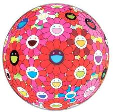 "Takashi Murakami NEW print ""Flower Ball red pink bule(3D)_ver.1""  Ltd.300 S/N"