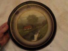 Vintage Antique Flue Cover Wall Decor Country Scene