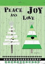Peace Joy And Love - Large Garden Flag - Brand New 28x40 Christmas 0095