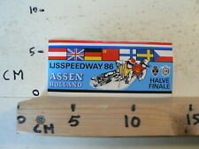 STICKER,DECAL ASSEN IJSSPEEDWAY HALVE FINALE 86 HOLLAND ICERACE