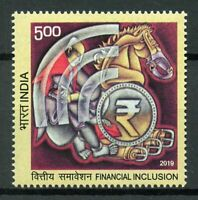 India 2019 MNH Financial Inclusion 1v Set Cultures Traditions Stamps