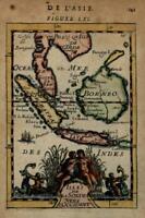 Southeast Asia Islands Borneo Java Sumatra 1683 Mallet decorative miniature map