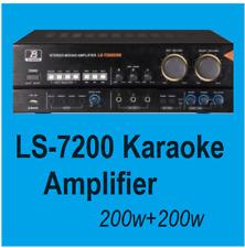 HQ New Bluetooth Remote USB 3 MIC Input Karaoke Mixing Amplifier 2x 200W Powered