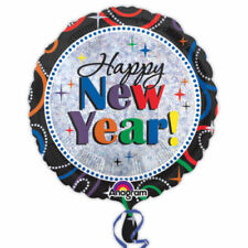 """Happy New Year 18"""" Holographic Foil Balloon"""