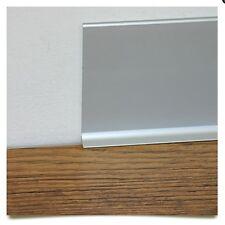 Zoccolino Battiscopa in vero alluminio liscio varie altezze (40-60-80-100mm)