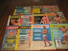 Lot Of 12 Strength & Health Bodybuilding Magazines/ 1960 COMPLETE YEAR