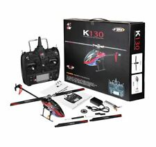 K130 2.4G 6CH Brushless 3D6G System Flybarless RC Helicopter RTF w 4 batts USA