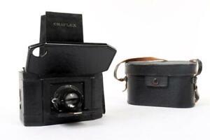 "Vintage ~ c1936 ~ ""National"" ""Graflex Series II"" Camera with Original Case #2518"