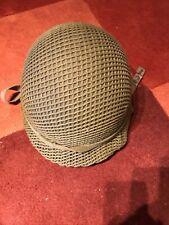 More details for vintage m1 military helmet with liner