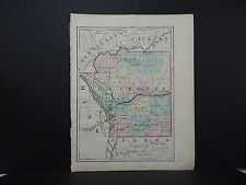 Wisconsin 1876 County Map, Double Sided, Vernon or La Crosse