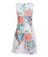 Women's White & Pink Floral Sleeveless Shift Dress 46690439
