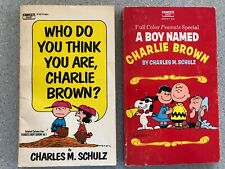 Vintage Charlie Brown Peanuts Paperback Books Set of 2