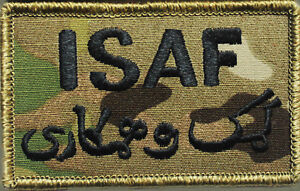 Army International Security Assistance Force ISAF OCP Multicam Patches