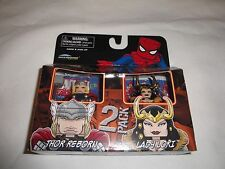 Marvel Minimates Thor Reborn and Lady Loki Set Diamond Select Mini Figures