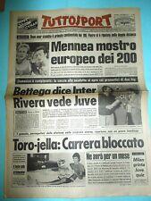 """TUTTOSPORT 11/9/1979 PIETRO MENNEA 19""""96 SUI 200 METRI PRIMATO CONTINENTALE"""