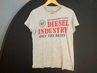 Diesel Only The Brave T shirt M Medium Grey Logo Top Mens