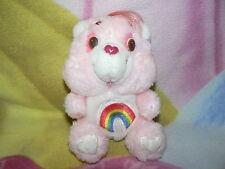 "6"" VINTAGE PINK RAINBOW CHEER CARE BEAR RETRO 1980 BABY BOY GIRL GIFT PLUSH TOY"