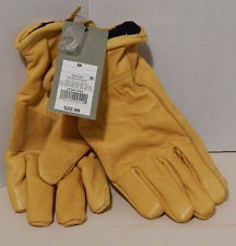 Goodfellow & Co Men's Belly Side Cow Leather Nylon Lined Gloves Yellow Medium