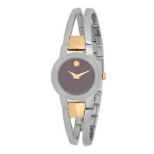Movado Museum 0606899 Black Dial Two-tone Chrono Quartz Men's Watch