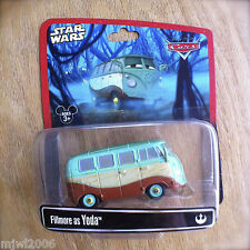 Disney PIXAR Cars STAR WARS Fillmore as YODA diecast RARE Disney Parks exclusive