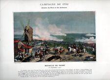Stampa antica RIVOLUZIONE FRANCESE 1792 BATTAGLIA di VALMY 1890 Old print