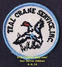 LMH PATCH Badge  TEAL CRANE SERVICE Inc.  Hoist Contractor Church Point LA  Logo