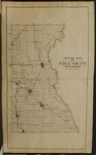 Wisconsin Juneau County Map 1898 Dbl Pg Y10#88
