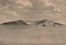 Saint Paul island from the North-East. French Southern & Antarctic Lands 1885