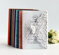 Laser Cut Hollow Butterfly Wedding Invitation Card Hotel Business Greeting Cards