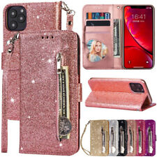 Bling Wallet Leather Flip Zipper Case Cover For iPhone 12 Pro Max 11 XR XS X 7 8