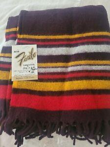 """Faribo Vintage 52"""" x 62""""  100% Acrylic Throw Stadium Blanket NOS Free shipping"""