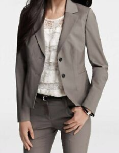 Ann Taylor Tailored Tropical Wool Olympia Jacket Size 2 Regular, 8 Petite Grey