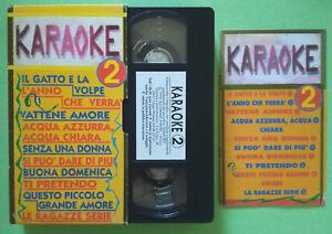 VHS Film Ita Musicale KARAOKE 2 Baglioni Lucio Battisti Dalla no dvd lp cd(V149)