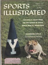 November 5, 1956 Sports Illustrated Magazine Yale Dartmouth on Cover