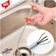 Hand Sink Cleaning Hook Sewer Spring Pipe Hair Removal Dredging Kit Kitchen Bath
