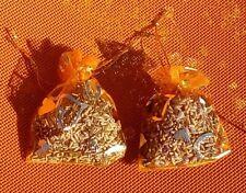 2 sachets de lavande  séchée en organza orange  motif coeur 100% bio pot pourri