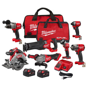 Milwaukee Combo Kit 18-Volt LED Light Variable Speed Charger Cordless Red