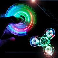 New Light Fidget Spinner Led Stress Hand Spinners Glow In The Dark Figet Spiner